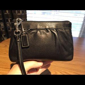Coach 1941 Black Leather Wristlet/case